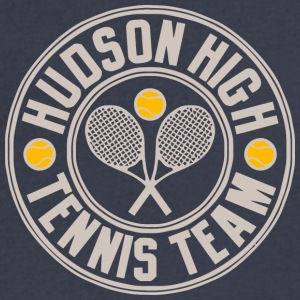 Hudson High Tennis Team - Men's V-Neck T-Shirt by Canvas