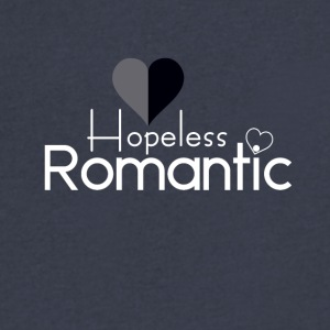Hopeless Romantic - Men's V-Neck T-Shirt by Canvas