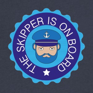 skipper on board - Men's V-Neck T-Shirt by Canvas