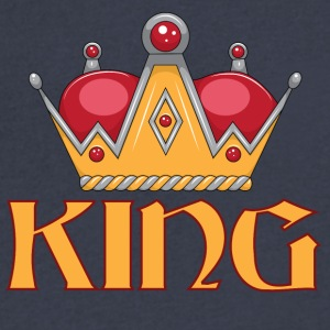 red gold king crown - Men's V-Neck T-Shirt by Canvas