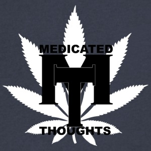 MEDICATED THOUGHTS - Men's V-Neck T-Shirt by Canvas