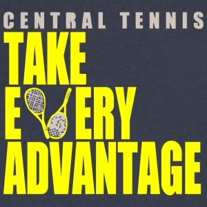 Central Tennis - Men's V-Neck T-Shirt by Canvas