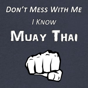 I Know Muay Thai - Men's V-Neck T-Shirt by Canvas
