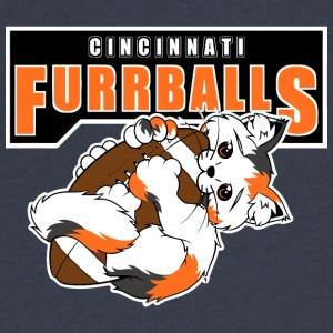 Cincinnati Furrballs - Men's V-Neck T-Shirt by Canvas