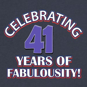 44th year birthday designs - Men's V-Neck T-Shirt by Canvas