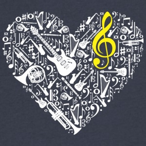Music - Men's V-Neck T-Shirt by Canvas