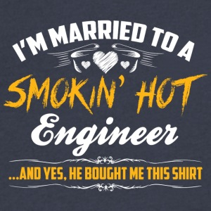 engineer married - Men's V-Neck T-Shirt by Canvas