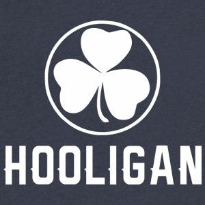 Hooligan Clover Saint Patrick Day - Men's V-Neck T-Shirt by Canvas