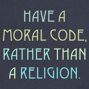 Moral code / Religion 2 - Men's V-Neck T-Shirt by Canvas