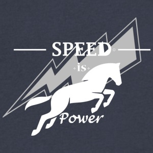Speed is horse power - Men's V-Neck T-Shirt by Canvas