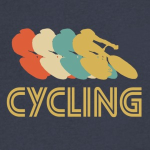 Cycling Pop Art - Men's V-Neck T-Shirt by Canvas