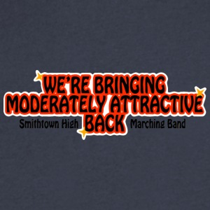 WE'RE BRINGING MODERATELY ATTRACTIVE BACK Smithtow - Men's V-Neck T-Shirt by Canvas