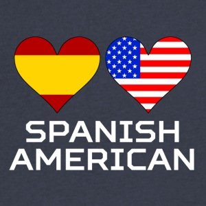 Spanish American Hearts - Men's V-Neck T-Shirt by Canvas