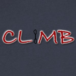 Climb Female and Male Climbing T-Shirt - Men's V-Neck T-Shirt by Canvas
