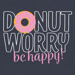 Donut worry be happy - Men's V-Neck T-Shirt by Canvas