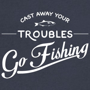 Go Fishing - Men's V-Neck T-Shirt by Canvas