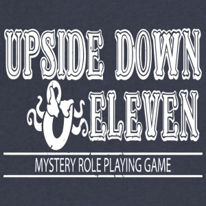 Upside Down and Eleven - Men's V-Neck T-Shirt by Canvas