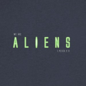 WE ARE ALIENS - Men's V-Neck T-Shirt by Canvas