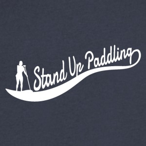 Stand Up Paddling Wave - Man - Men's V-Neck T-Shirt by Canvas