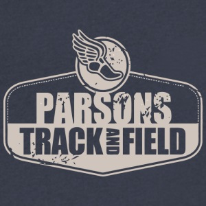 Parsons Track Field - Men's V-Neck T-Shirt by Canvas