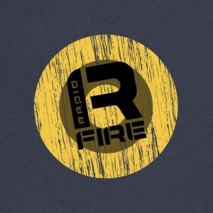 R FIRE - Men's V-Neck T-Shirt by Canvas