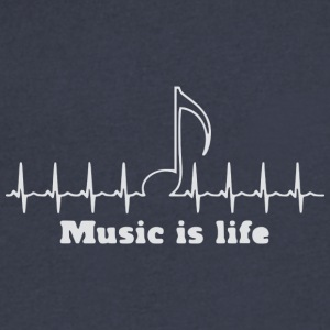 Music is my life - Men's V-Neck T-Shirt by Canvas