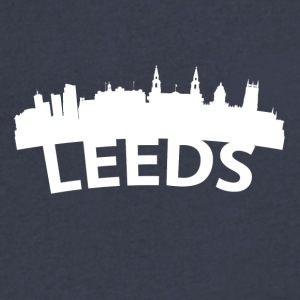 Arc Skyline Of Leeds England - Men's V-Neck T-Shirt by Canvas