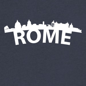 Arc Skyline Of Rome Italy - Men's V-Neck T-Shirt by Canvas