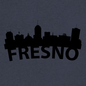 Arc Skyline Of Fresno CA - Men's V-Neck T-Shirt by Canvas
