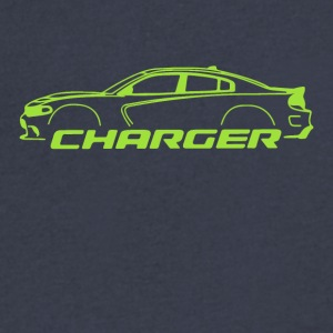 Sublime Green Charger - Men's V-Neck T-Shirt by Canvas