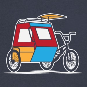Philippines Padyak Tricycle - Men's V-Neck T-Shirt by Canvas