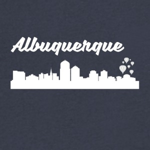 Albuquerque NM Skyline - Men's V-Neck T-Shirt by Canvas