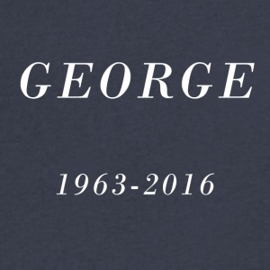 George 1963-2016 - Men's V-Neck T-Shirt by Canvas