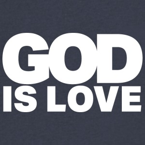 God Is Love - Ivy Design (White Letters) - Men's V-Neck T-Shirt by Canvas