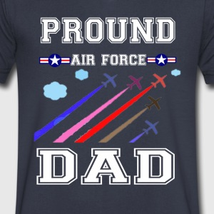 pround air force dad T-shirt - Men's V-Neck T-Shirt by Canvas