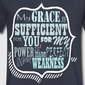 My Grace is Sufficent For You Design - Men's V-Neck T-Shirt by Canvas