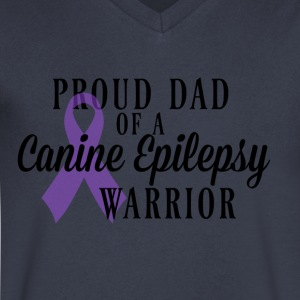 Proud Dad of a Canine Epilepsy Warrior - Men's V-Neck T-Shirt by Canvas