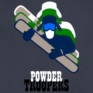 Powdertroopers - Men's V-Neck T-Shirt by Canvas