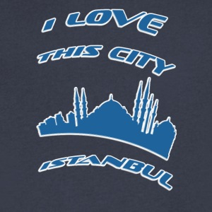 Istanbul I love this city - Men's V-Neck T-Shirt by Canvas
