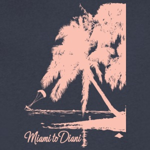 Miami To Diani Pink Edition - Men's V-Neck T-Shirt by Canvas