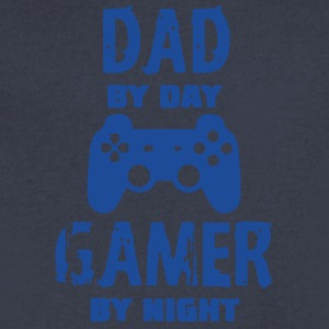 Gamer Dad Tee Shirts - Men's V-Neck T-Shirt by Canvas