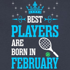 Best Players Are Born In February - Men's V-Neck T-Shirt by Canvas