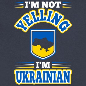 Im Not Yelling Im Ukrainian - Men's V-Neck T-Shirt by Canvas