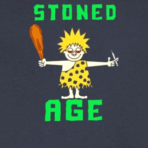 Stoned Age - Men's V-Neck T-Shirt by Canvas