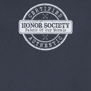 Certified honor society authentic - Men's V-Neck T-Shirt by Canvas