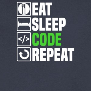Eat Sleep Code - Men's V-Neck T-Shirt by Canvas