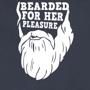 Bearded For Her Pleasure - Men's V-Neck T-Shirt by Canvas
