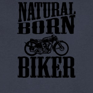 Natural Born Biker - Men's V-Neck T-Shirt by Canvas