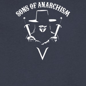 Sons of Anarchism - Men's V-Neck T-Shirt by Canvas