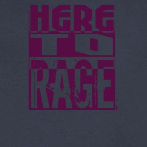 Here To Rage - Men's V-Neck T-Shirt by Canvas
